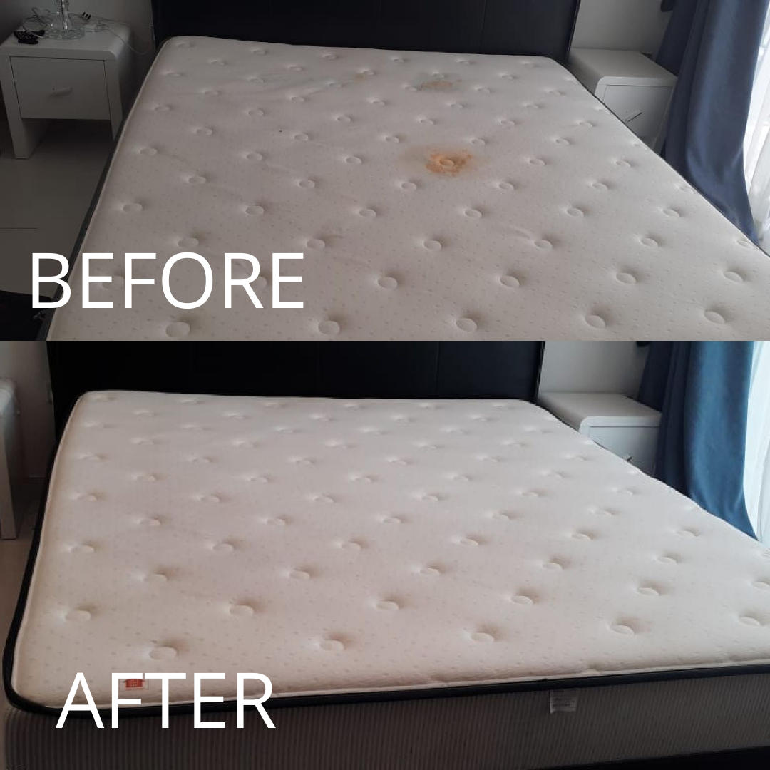 Mattress Cleaning -Discovery Gardens - Before & After