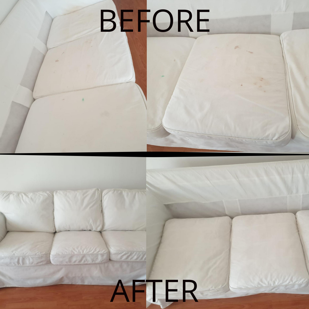 Sofa Cleaning - JBR -Before & After