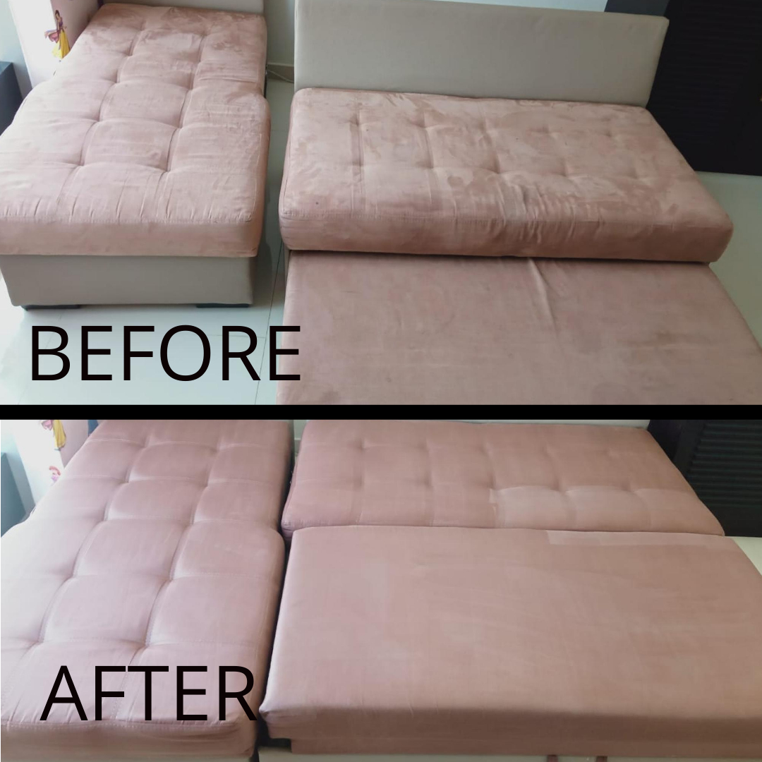 Sofa Cleaning - JVC - Before & After