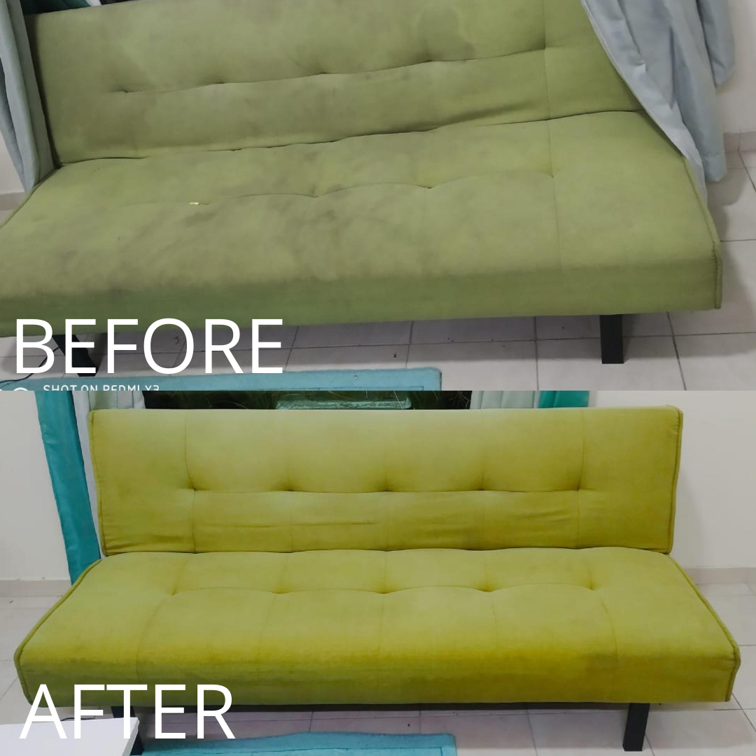 Sofa Cleaning - Mirdif - Before & After